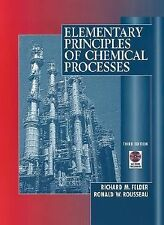 Elementary Principles of Chemical Processes, by Felder, 3rd Edition