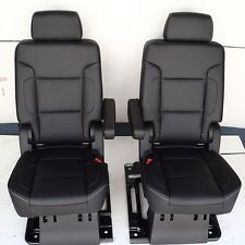 2016 2015 SUBURBAN 2ND ROW BUCKET SEATS IN BLACK LEATHER MANUAL
