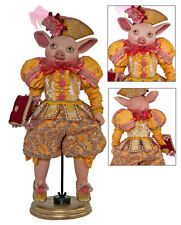 28-628051 Katherine's Collection Stage Coach Driver Pig Boy Doll Orange-Gold