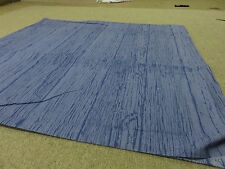 Denim blue wood grain effect crafts sewing remnant fabric piece 95x95cm