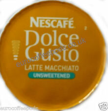 50 x Nescafe Dolce Gusto Latte Unsweetened Coffee Pods Only (No Milk Pods)