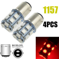 4x BAY15D 13 SMD LED 1157 Dual Filament Brake Stop Tail Light Bulb Globe 12v RED