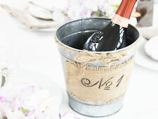 ANTIQUE VINTAGE STYLE FRENCH CHIC GALVANISED BUCKET PLANTER ICE BUCKET CHRISTMAS