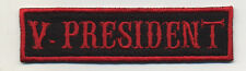 vice president patch badge car club motorcycle biker MC vest jacket  black red