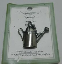 Marjolein Bastin by Hallmark Watering Can Posy Pin Broche Metal Butterfly