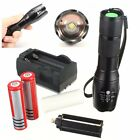 Elfeland 3000LM XM-L T6 LED ZOOMABLE Flashlight Lamp Torch 2X18650+Charger