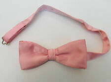 Pink English bow tie Satin to fit collar size 14.5 15 15.5 16 16.5 17 17.5 Theak