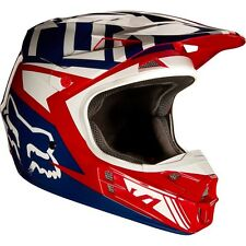 2017 FOX V1 Falcon Red and White Motocross MX/ATV Helmet Adult Large
