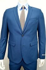 Men's Cobalt Blue Slim Fit Dress Suit Size 36S NEW Suit