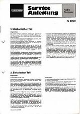 Service Manual-Instructions pour Grundig C 5000