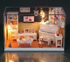 DIY Handcraft Miniature Dolls House - Cover&Light Dollhouse - UK Stock Fast Post