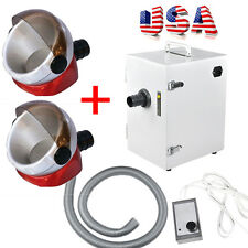 US Dental Lab Digital Single-Row Dust Collector Vacuum Cleaner 2PCS Suction Base