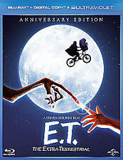 E.T. EXTRA TERRESTRIAL - BLU RAY + DIGITAL + UV - NEW / SEALED - UK STOCK