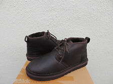 UGG NEUMEL CHINA TEA LEATHER/ SHEEPSKIN CHUKKA ANKLE BOOTS, US 11/ EUR 44.5  NEW