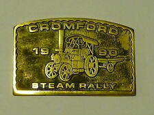 CROMFORD STEAM TRACTION ENGINE RALLY BRASS PLAQUE 1990