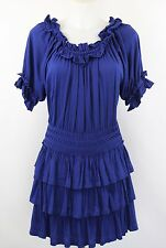 Marc by Marc Jacobs Blue Ruffle Dress Size XS