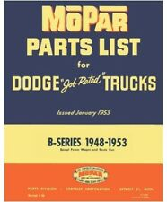 Illustrated MoPar Factory Parts Manual for 1948-1953 Dodge B-Series Trucks