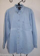 Provenance USA, CHEMISE en Jean REAL CLOTHES, Qualité B, Taille L --- (CJ_099)