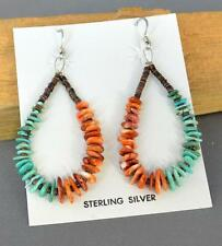 NATIVE AMERICAN SANTO DOMINGO INDIAN JEWELRY BEADED EARRINGS JEANETTE CALABAZA 1
