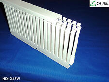 "18 New 1""x4""x2m Narrow Finger Open Slot Wiring Duct/Cable Raceway Cover, White"