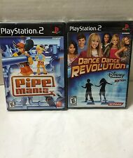 Ps2 Game Lot Disney Dance Revolution -Pipe Mania 2 Sealed Sony PlayStation Games