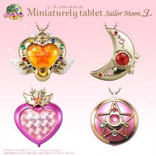 BANDAI Sailor Moon Miniaturely Tablet Vol.3 Complete Set of 4 Key Chain Charm