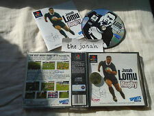 Jonah Lomu Rugby PS1 (COMPLETE) game black label Sony PlayStation sports