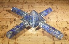 LAPIS LAZULI ORGONE 4 POINT GEMSTONE ENERGY GENERATOR ORGONITE