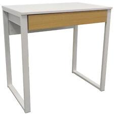 Compact Bureau Poste de travail / Ordinateur / Coiffeuse - Blanc / Oak OF1044
