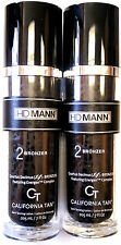 Lot of 2 California Tan HD MANN Step 2 Bronzer Indoor Tanning Bed Lotion for Men