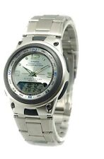 Casio AW82D-7A Mens Stainless Steel Fishing Gear Moon Data Watch Silver Dial