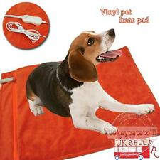 UK NEW 12V Vinyl Pet Heat Pad Cat Dog Bed Whelping Box Puppy Electric Heated Mat