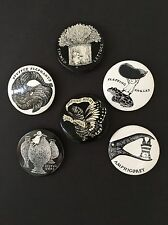 Edward Gorey *6 Pinback Buttons Designed & Illustrated by Gorey* - RARE