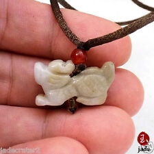 Chinese Little Pixiu Dragon jade pendant necklace US SELLER