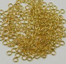 100 Jump Rings, Gold-plated Brass, 5mm Round, 18 Gauge Open