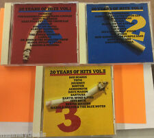 20 Years Of Hits Vol. 1 2 3 Lot by Va Import (CD, 1987, CBS) Tested! Works!