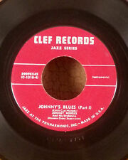 """Johnny Hodges 7"""" clef jazz EP Johnny's Blues part 1 & 2 VG+"""