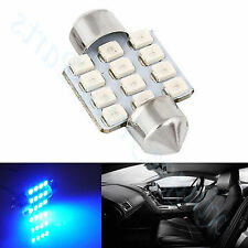 Blue LED Festoon 31mm Car Truck Interior Light Bulb Car Interior Glove Dome