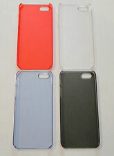 Lot of 4 - 1mm Thin Plastic Cases for Apple iPhone 5