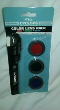 Cyclops Color Lens Pack For Cyclops Flashlight 1WF 3WF and XCF Red Green Blue