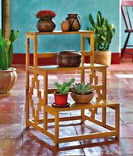 """AZTEC 3 TIER WOOD STAIRSTEP DISPLAY STAND 21"""" X 14"""" X 16"""" NEW"""
