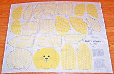 EASTER BUNNY RABBIT FROM ROMPER ROOM SOFT TOY FABRIC PANEL