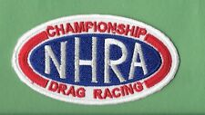 "New NHRA  'Drag Racing'  1 1/2 X 3 1/4"" Inch  Iron on Patch Free Shipping"
