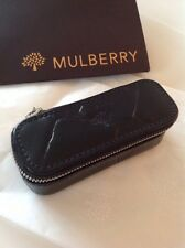 Mulberry Black Congo Leather Lipstick Case With Mirror New