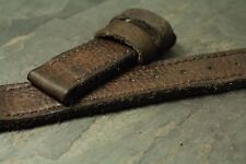 24mm leather strap glove tanned Dark Buffalo Brown ZTRITIUM Vintage for Panerai