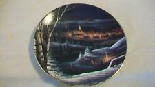 Wintertime Decorative Ceramic Plate by Terry Redlin Heartland Collection 1995