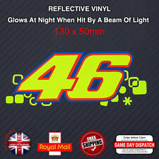 FLUORESCENT Yellow Valentino Rossi 46 Sticker Decals Reflective Vinyl 130mm F507