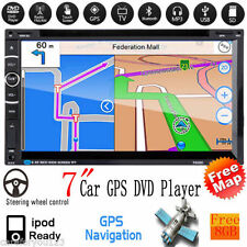 "7"" 2DIN Car Stereo CD DVD TV MP5 Player GPS Navi Bluetooth Touch Radio+8G TF+MAP"
