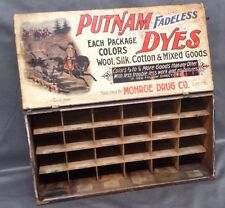 Original Drug Store Putnam Dye Display box Lot 31