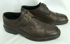 COLE HAAN Country Line Dark Brown Monk Strap Loafers men's 9.5D Work Dress Shoes
